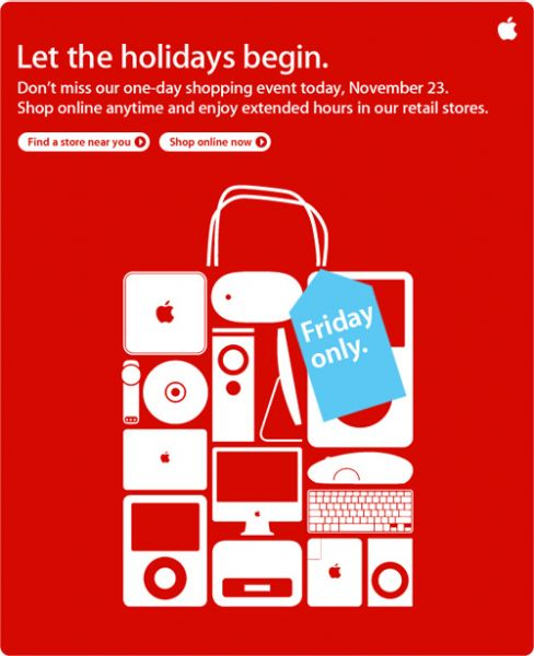 Apple's special shopping event is today only. Image