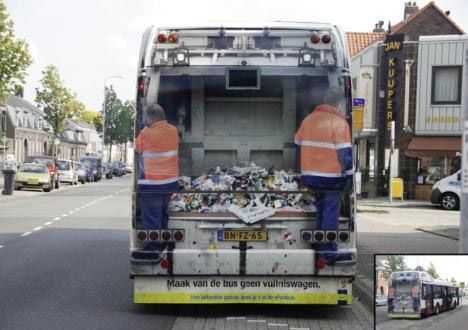 Bus - Garbage Truck Vinyl Wrap Illusion Image