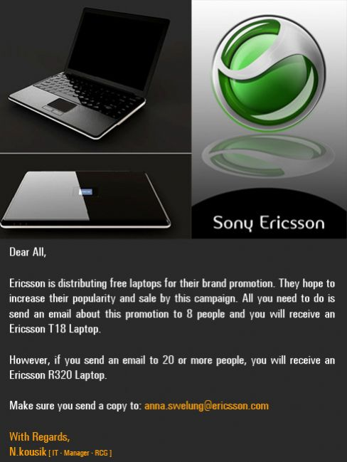 Free Ericsson T18 and R320 Laptops Image