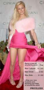 Paris Hilton showing her flaps