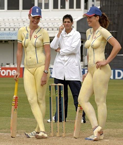 Emma and Natalie Criket Legs before wicket Image