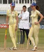 Emma and Natalie Criket Legs before wicket