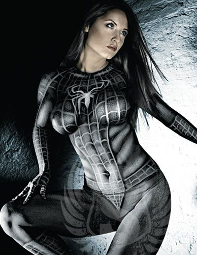 Spider Girl bodypaint Image