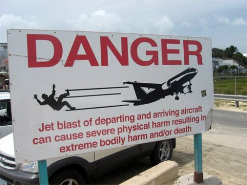Funny and Real St Maarten Airport Sign Image