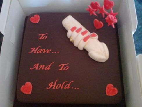 Funny Sexy Wedding Cake Topper Image