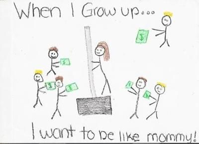 When I Grow Up, I want to be like mommy! Image